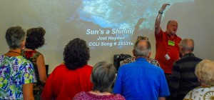 Here's Ray, who's been in CFO for 68 years, learning to lead singing:)